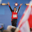 Amsterdam, 10.7.2016, Leichtathletik EM, Victory 400m Hurdles, Lea Sprunger (SUI). (Daniel Mitchell/EQ Images)