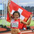 Amsterdam, 8.7.2016, Leichtathletik EM, 100m, Mujinga Kambundji Name. (Daniel Mitchell/EQ Images)