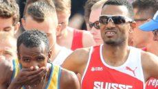 Amsterdam, 10.7.2016, Leichtathletik EM, Half Marathon Men Final, Starting lineup. (Daniel Mitchell/EQ Images)