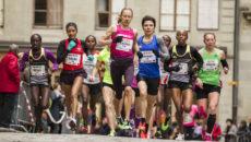Genève, le 6 décembre 2014. 37ème course de l'Escalade. Escaladélite Femmes.©Pierre Albouy