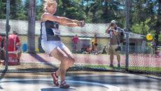 Zihlmann Nicole wirft Schweizer Rekord bei den Schweizer Meisterschafen SM Leichtathletik 2016 im Stade Bout du Monde, Genève. Copyright 2016 Ulf Schiller / athletix.ch, all rights reserved